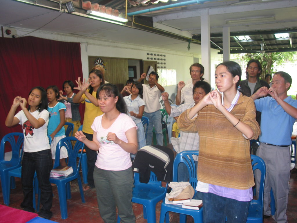 Deaf church in Thailand